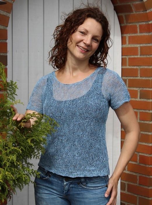 15.06 Luxurius Garter Stitch T-shirt UK