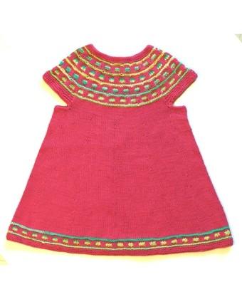 31.03 Lillepigens farvelade-kjole