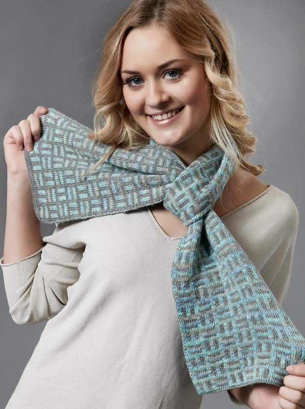 40.13 Schal im Doppeltstricken/Doubleface/ Double –knit scarf DE+UK