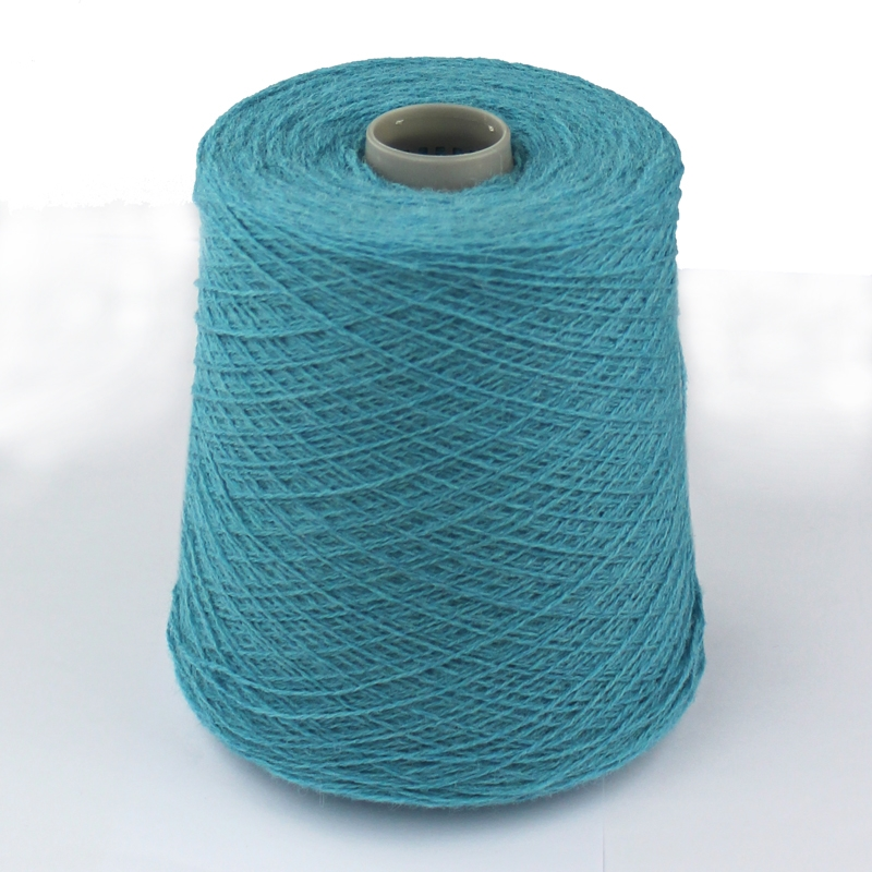 Shetlandsuld på cones-4163 Mineral blue