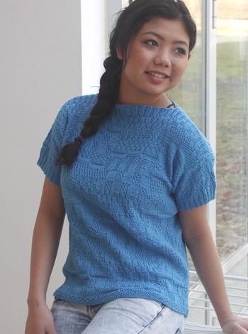332 T-shirt med damask-mønster