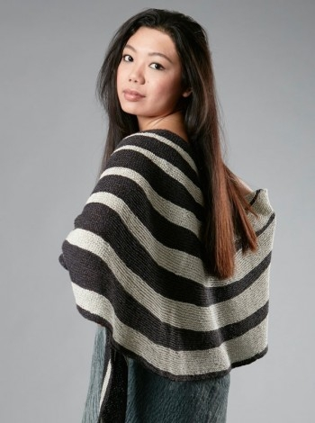 13.59 Stribet sjal