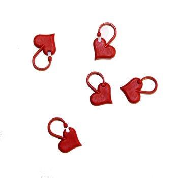 407 Maskemarkører hjerter 10 stk.
