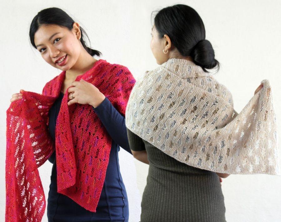 10.10 3 lette tørklæder i fint Merino uld