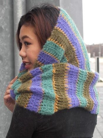 793 Stribet tube-halstørklæde