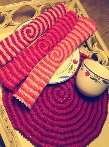 333 Hæklede servietter i fint, tyndt bomuldsgarn