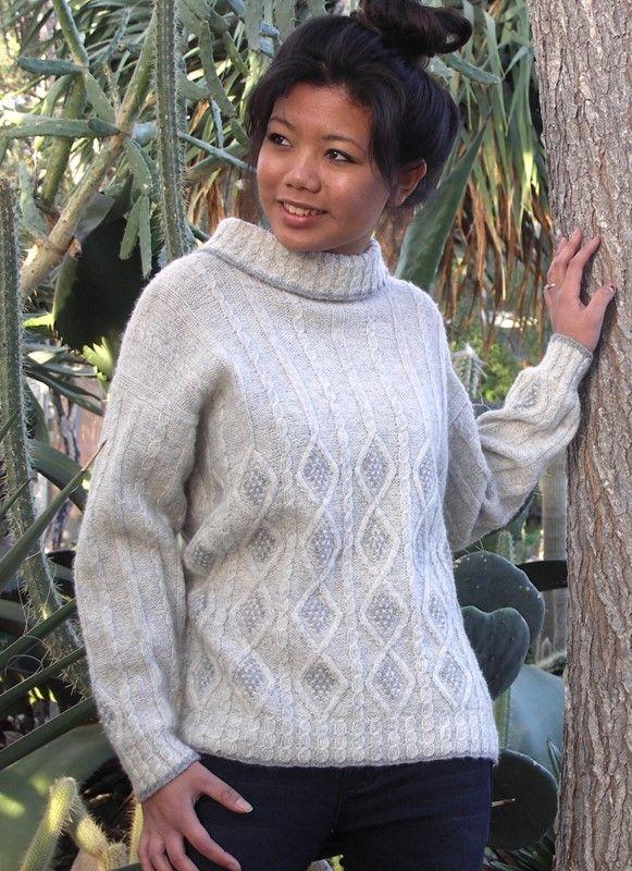 502 Sweater med kabelmønster