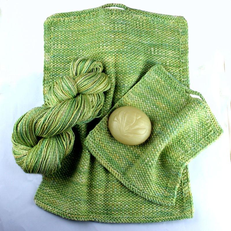 KN 2007 Gæstehåndklæde og vaskeklud i vævestrik