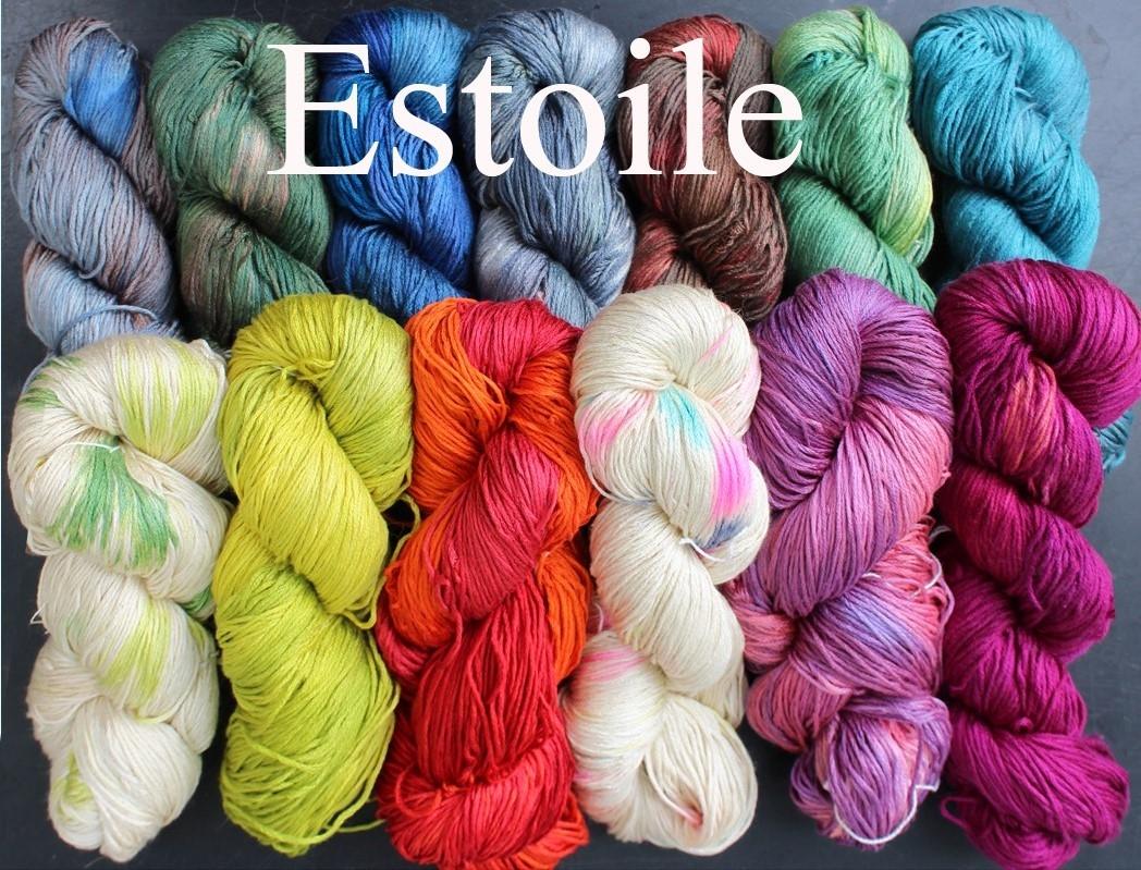 Estoile, håndfarvet silke