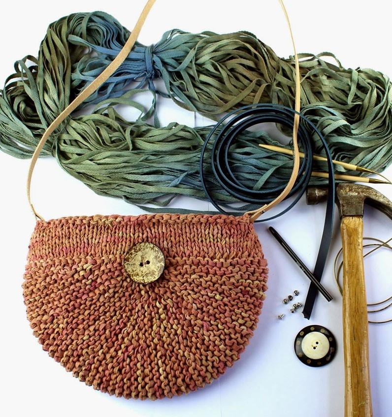 KN 2013 Strikket taske i håndfarvede bånd